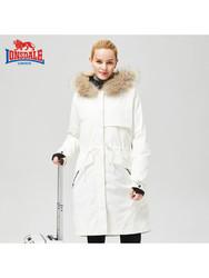 LONSDALE 龙狮戴尔 234419541 户外女款中长款三合一冲锋衣两件套