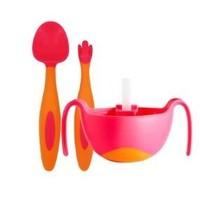 b.box 宝宝训练便携叉勺套装+三合一碗吸管碗