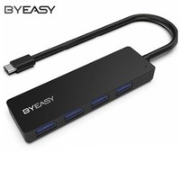 BYEASY Type-C 扩展坞分线器 USB3.0*4 一拖四 0.3m