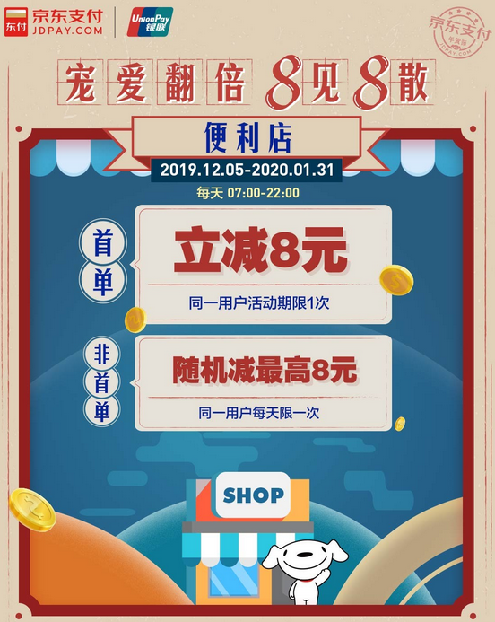 京东 X 罗森 / 7 - eleven  / 悦客便利等  便利店消费优惠