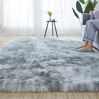 冠研 北欧扎染多色毛绒地毯 40*120cm