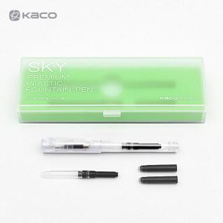 KACO 文采 SKY 彩色透明百锋钢笔 EF尖 *3件