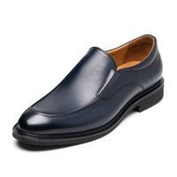 莱尔斯丹男鞋2019新款一脚蹬套脚皮鞋男商务休闲乐福鞋32520 *2件