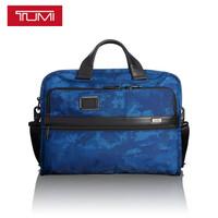 途明 TUMI ALPHA系列男士商务旅行高端时尚聚酯纤维公文包026108NVR2 蓝色
