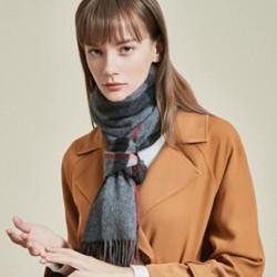 网易严选 1664001 羊绒格纹女式围巾