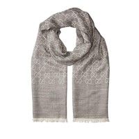 GUCCI 古驰 165904 3G646 1400 羊毛丝绸围巾