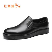 红蜻蜓 (RED DRAGONFLY)舒适时尚套脚休闲鞋 WTA91821 黑色 40