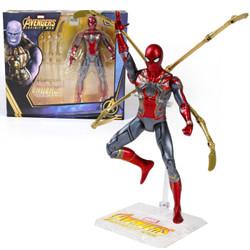迪士尼男孩玩具关节可动复仇者联盟漫威 模型手办蜘蛛侠