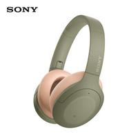 索尼(SONY)WH-H910N 蓝牙降噪无线耳机 头戴式Hi-Res音质游戏耳机 手机耳机(hear系列 灰绿色 )