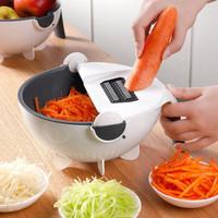 米良品 多功能九合一切菜器沥水篮