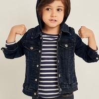 男幼儿|连帽长袖按扣牛仔夹克