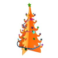 HUAZAI 华仔 圣诞树装饰挂件 2色可选