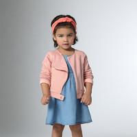 Z-PARIS秋冬法国进口女童侧拉链粉色长袖外套12个月-4岁 *5件