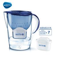 碧然德BRITA厨房净水器过滤芯自来水家用净水壶星光系列3.5L宇宙蓝+滤芯6枚