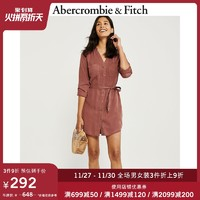 Abercrombie&Fitch女装 长袖工装风衬衫式连衣裙 300638-1 AF