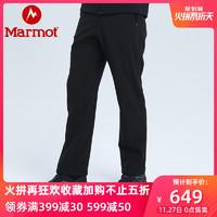 marmot/土拨鼠秋冬新款防泼水耐磨透气保暖M1男式软壳裤J80980