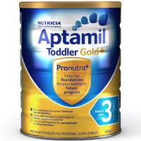 海外Aptamil 澳洲爱他美金装 婴幼儿配方奶粉 3段(12-24月)900g/罐 新西兰原装进口