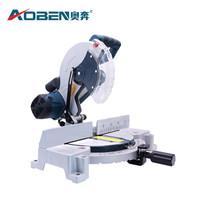奥奔AOBEN 锯铝机 多功能大功率2200W切割机铝材木材45度角高精度斜切10寸界铝机电动工具