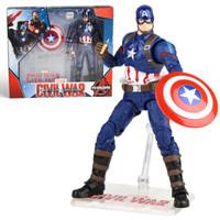 迪士尼男孩玩具关节可动 复仇者联盟漫威模型手办 美国队长