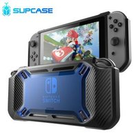 SUPCASE美国 Nintendo Switch任天堂游戏机保护套壳配件收纳分体NS配件 酷蓝-手柄不可拆卸