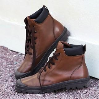 京东PLUS会员 : J.ZAO 京东京造 男士圆头工装靴