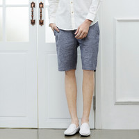 InteRight 棉麻混纺休闲短裤 *3件
