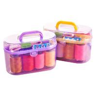 乾越便携迷你针线盒套装家用针线缝补针线包收纳工具整理箱十件套