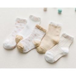 miaoyoutong 妙优童 儿童棉袜 5双装