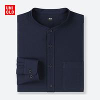 UNIQLO 优衣库 416916 男装斜纹立领衬衫