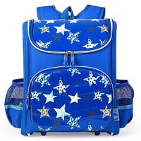 卡拉羊 儿童书包1-2-3-4年级小学生轻量减负护脊防泼水双肩包韩版CX2011 *2件