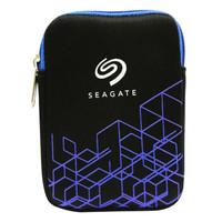 希捷 SEAGATE 2.5英寸移动硬盘收纳包 防震保护 蓝色/红色