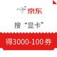 """优惠券码:京东 搜""""显卡""""得好券 满3000-100元券"""