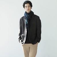UNIQLO 优衣库 420000 男士羊毛混纺夹克