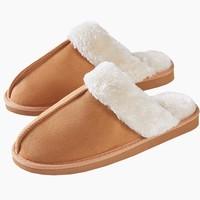 考拉工厂店  麂皮绒面仿兔毛绒棉拖鞋