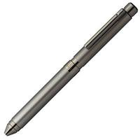 ZEBRA 斑马 Sharbo X 进口自动中性圆珠笔 多功能定制商务精致礼品文具礼盒签字笔 TS10-灰色(3色+铅芯)
