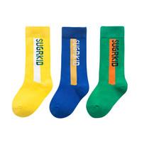 馨颂儿童袜子三双装潮款男女中大童中筒袜套装 M(5-8岁) *3件