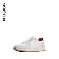 PULL&BEAR 官方新款男士都市风白色运动鞋子男秋季透气 17311012