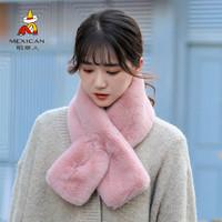 稻草人围脖女ins秋冬季韩版百搭学生仿兔毛可爱少女围巾加厚保暖
