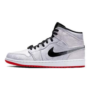 Jordan Air Jordan 1 Mid SE Fearless 冠希联名AJ1 白丝绸 男士篮球鞋 CU2804-100 白色 44