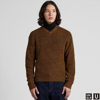 UNIQLO 优衣库 U系列 421257 男士V领针织衫