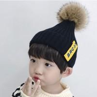 布丁新语 儿童加绒线帽 均码 多色可选