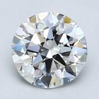 Blue Nile 1.00克拉圆形切割钻石(切工EX 成色F色 净度VVS2)