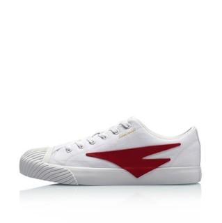 LI-NING 李宁 男士休闲运动鞋 AGCP132-6 标准白/桑巴红 39