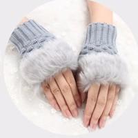 女士猫爪半掌手套 多色可选