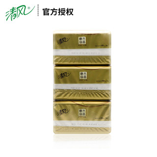 Breeze 清风 原木纯品金装3层150抽6包小规格面纸巾