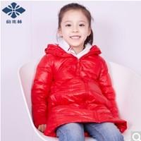 俞兆林 儿童白鸭绒中长款羽绒服 *2件