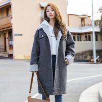 12日0点、双12预告:韩都衣舍 OK1039 女士中长款羊毛大衣 低至132元