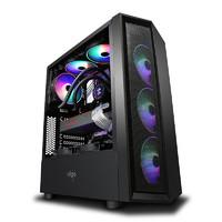 京天 台式电脑主机(9400F、8GB、256GB、RX 590)