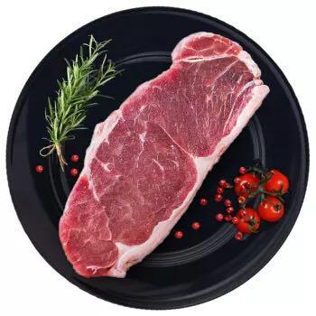 烧范儿 原肉整切静腌西冷牛排 5片装 900g *3件