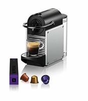 De'Longhi 德龙 EN 124 EN124.S胶囊咖啡机Pixie 1260 W 侧壁由Nespresso咖啡胶囊回收制成 银色金属色